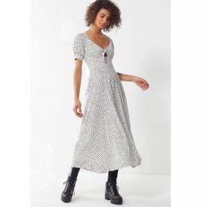 Urban Outfitters spotted polka dot midi dress
